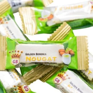 Golden Boronia Green Tea Soft loose nougats